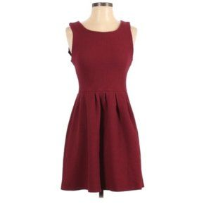 Ganni burgundy fit and flare noon & night dress